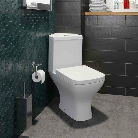 Bathroom Corner Toilet Close Coupled Contemporary Soft Close Seat