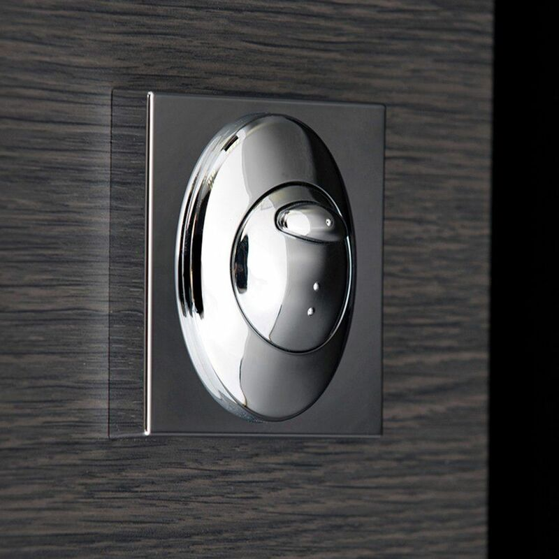 Image of Bathroom Dual Flush Push Button Plate For Concealed Cistern Square Mount Chrome