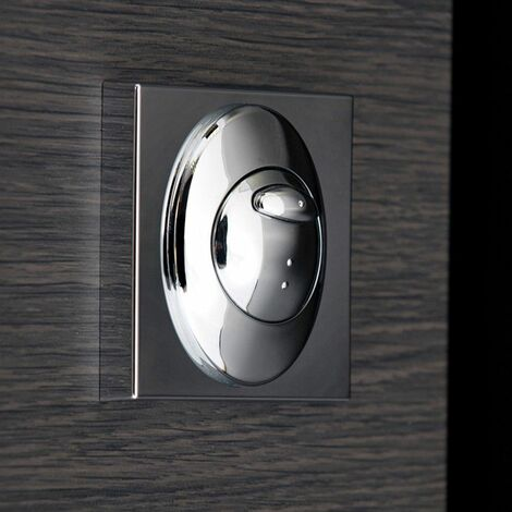 Bathroom Dual Flush Push Button Plate For Concealed Cistern Square Mount Chrome