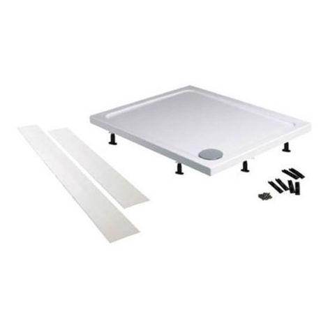 Bathroom Easy Plumb Riser Kit Shower Tray Panel and Leg Set (1225 x 1225mm)
