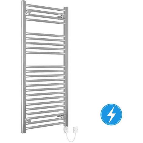 "main image of ""Bathroom Electric Heated Towel Rail 1100 x 500 Straight Thermostatic 250W Chrome"""