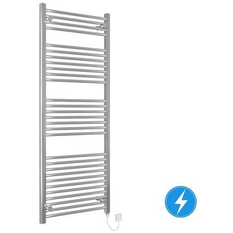 Bathroom Electric Heated Towel Rail 1500 x 600 Straight Manual 600W Chrome