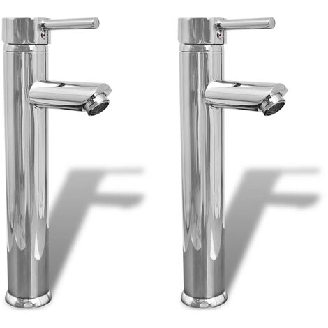 Bathroom Faucet Mixer Taps 2 pcs Chrome