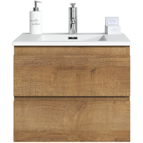 Bathroom furniture set Angela 120 cm basin F. Oak - Storage cabinet vanity unit sink furniture