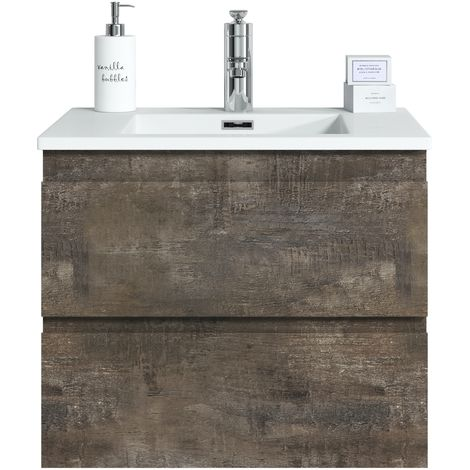 Bathroom furniture set Angela 60 cm basin Stone Ash - Storage cabinet vanity unit sink furniture