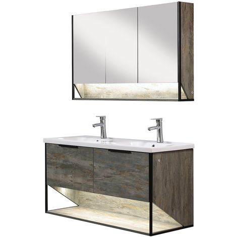 Bathroom furniture set Cali 120cm basin - Storage cabinet vanity unit sink furniture mirror cabinet
