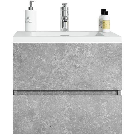 Bathroom furniture set Coni 60 cm basin F. Ash - Storage cabinet vanity unit sink furniture