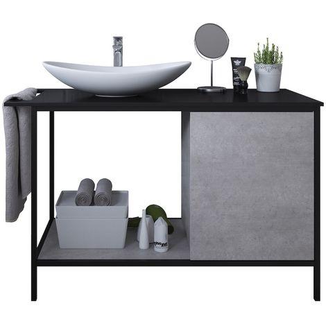 Bathroom furniture set Lissabon 120 cm Grey - Storage cabinet vanity unit sink furniture