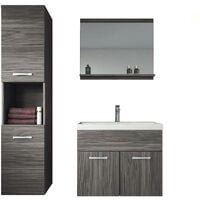 Bathroom furniture set Montreal 60cm basin bodega (grey)- Storage cabinet vanity unit sink furniture