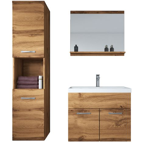 Bathroom furniture set Montreal 60cm basin Wotan - Storage cabinet vanity unit sink furniture