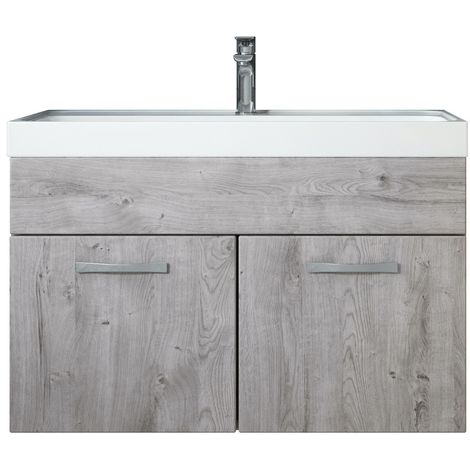Bathroom furniture set Paso 01 80cm basin Ribbeck Grey - Storage cabinet vanity unit sink furniture
