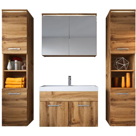 Bathroom furniture set Paso xl 80cm basin Wotan - Storage cabinet vanity unit sink furniture