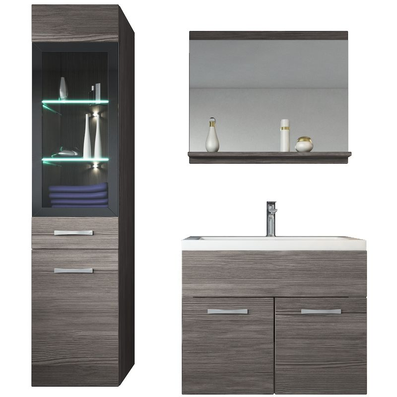 Bathroom Furniture Set Rio 60cm Basin Bodega Grey Storage