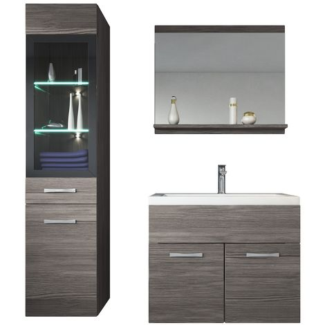Bathroom Furniture Set Rio 60cm Basin Bodega Grey Storage