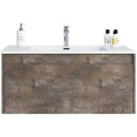 Bathroom furniture set Slik 100 cm basin ash stone - Storage cabinet vanity unit sink furniture