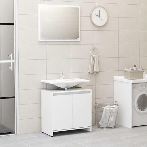 Bathroom Furniture Set White Chipboard