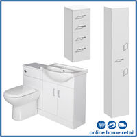 Bathroom Furniture Toilet Sink Vanity Cabinet Tall Unit Drawer