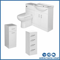 Bathroom Furniture Toilet Vanity Cabinet Drawer Set Laundry Unit