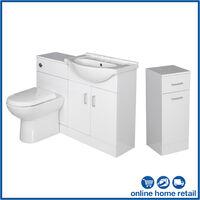 Bathroom Furniture Toilet Vanity Unit Cabinet Laundry White Gloss