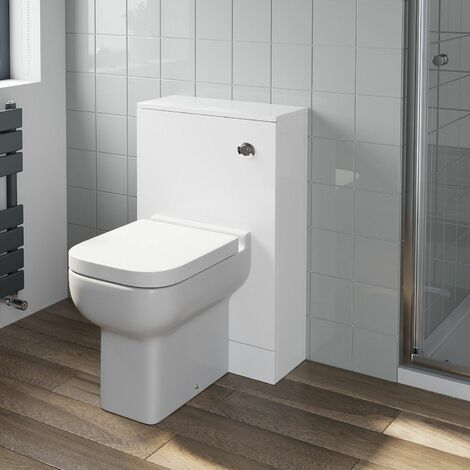 Bathroom Gloss White Flat Pack Concealed Cistern Unit Amelie Toilet 500 x 330