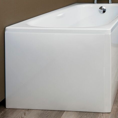 Bathroom Gloss White Modern Acrylic Bath End Panel 800mm