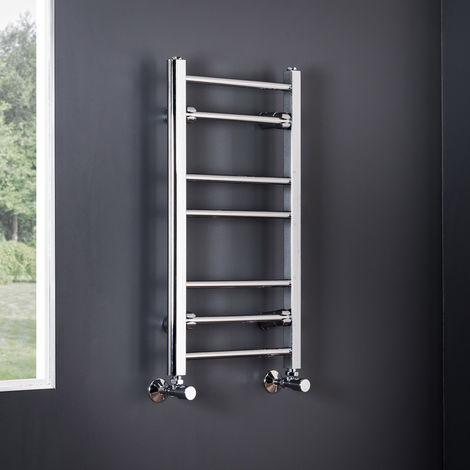 Essentials 700 x 400mm Straight Chrome Heated Towel Rail - 700 X 400 mm Straight Chrome