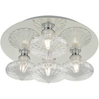 Bathroom IP44 Ceiling Light in Chrome with Small Clear Glass by Washington Lighting