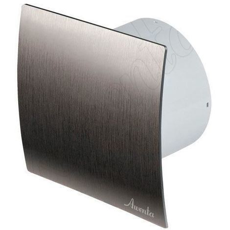 "Bathroom Kitchen Toilet Wall Air Ventilation Extractor Fan with Timer 4"" 100mm Silver"