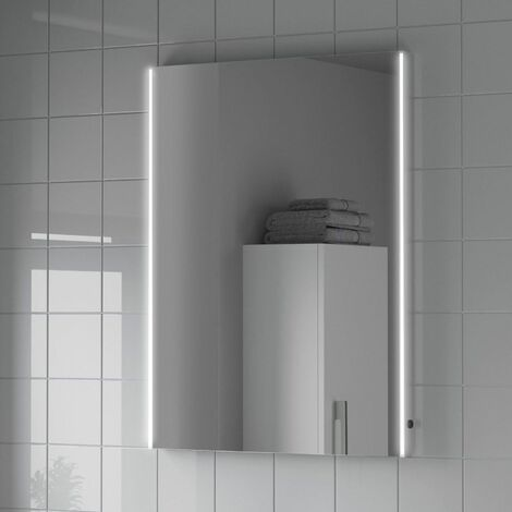 Bathroom LED Illuminated Demister Mirror Mains Power Modern IP44 600x800mm