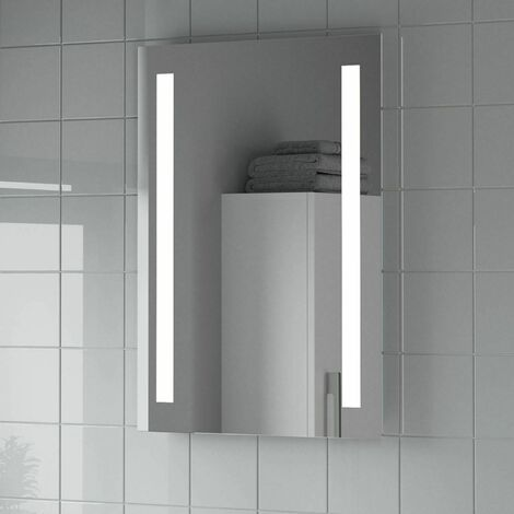 Bathroom LED Illuminated Luxury Mirror Battery Power Contemporary 500x700mm