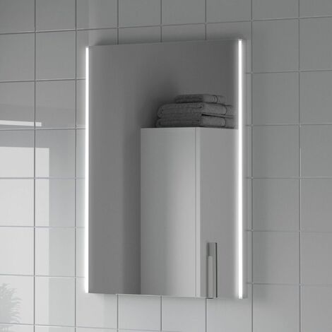 Bathroom LED Illuminated Luxury Mirror Battery Power Modern IP44 500x700mm