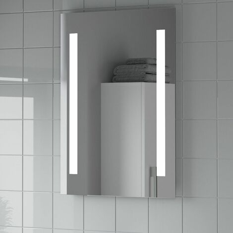 Bathroom LED Illuminated Luxury Mirror Mains Power Contemporary IP44 500x700mm