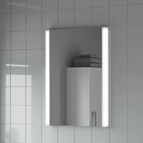 Bathroom LED Illuminated Mirror Demister Mains Power Luxury IP44 500x700mm