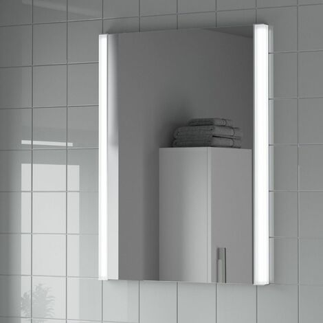 Bathroom LED Illuminated Mirror Demister Mains Power Luxury IP44 Rated 600x800mm