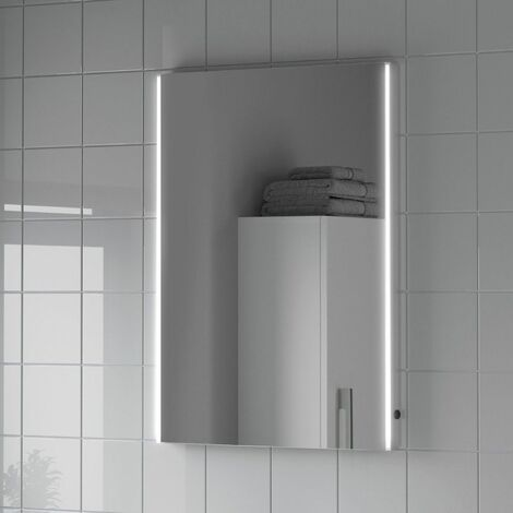 Bathroom LED Illuminated Mirror Demister Mains Power Modern IP44 500x700mm