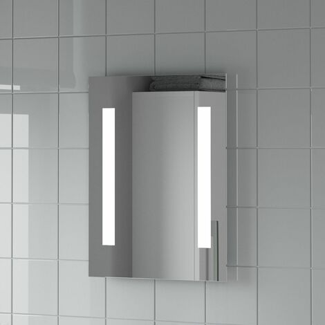 Bathroom LED Illuminated Mirror Mains Power Contemporary IP44 Rated 390x500mm