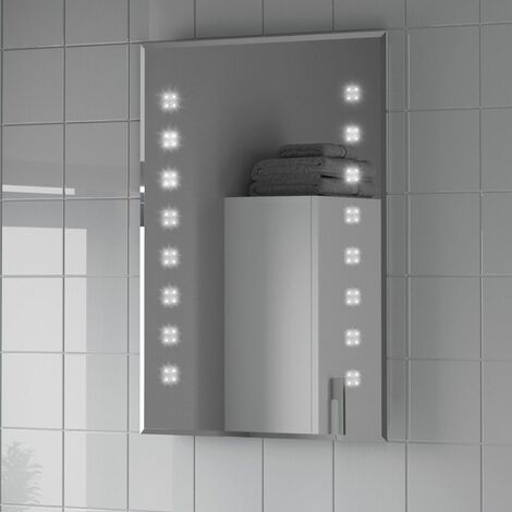 Bathroom LED Illuminated Mirror Mains Power Modern Demister IP44 Rated 500x700mm