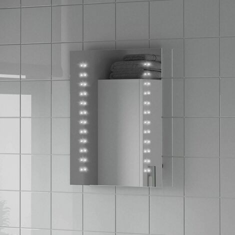 Bathroom LED Illuminated Mirror Modern Battery Power Luxury IP44 Rated 390x500mm