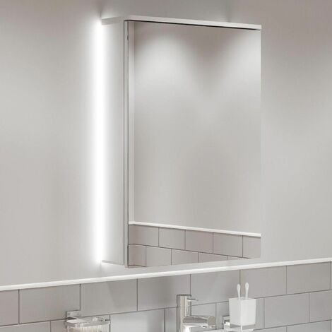 Bathroom LED Mirror Cabinet Cupboard Demister Pad Shaver Socket IP44 715 x 500mm