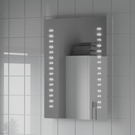 Bathroom LED Mirror Illuminated Battery Power Modern IP44 500x700mm
