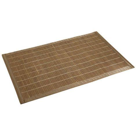 Bathroom Mat Bamboo Dark Brown 50 x 80 cm