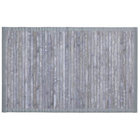 Bathroom Mat Bamboo Grey 50 x 80 cm