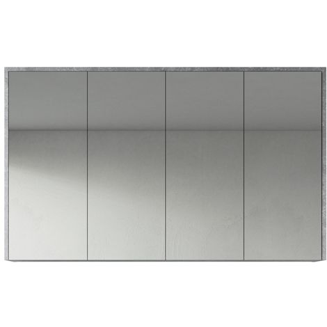 Bathroom Mirror Cabinet Cuba 120cm F. Ash (Grey) - Storage cabinet vanity unit furniture double door