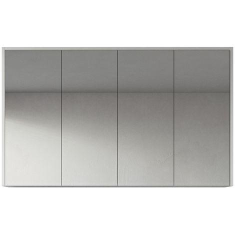 Bathroom Mirror Cabinet Cuba 60cm grey oak - Storage cabinet vanity unit furniture double door