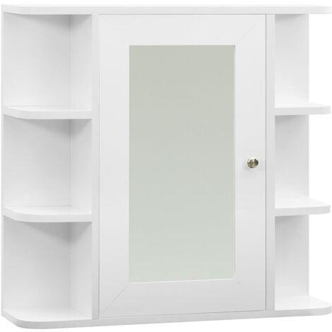 Bathroom Mirror Cabinet White 66x17x63 cm MDF