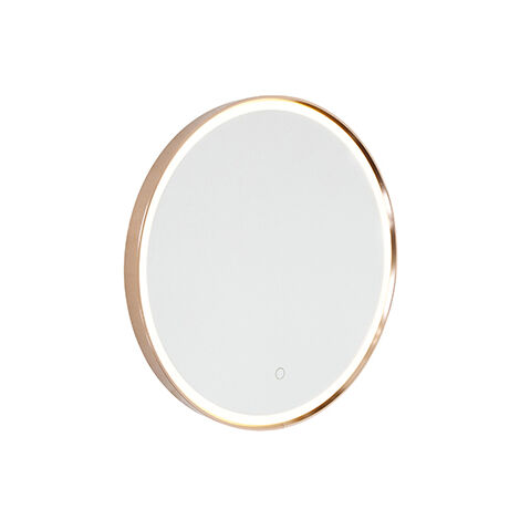 """main image of """"Bathroom mirror copper 50 cm incl. LED with touch dimmer - Miral"""""""