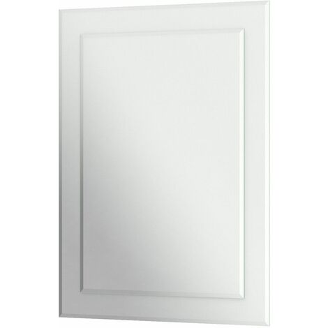 Bathroom Mirror Frameless Bevelled Edge Rectangle Wall Mounted 650x900mm