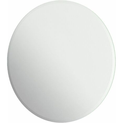 Bathroom Mirror Frameless Bevelled Modern Round Wall Mounted 500x500mm