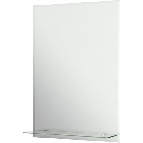 Bathroom Mirror Frameless Rectangular Luxury Wall Mounted Bevelled 500x700mm