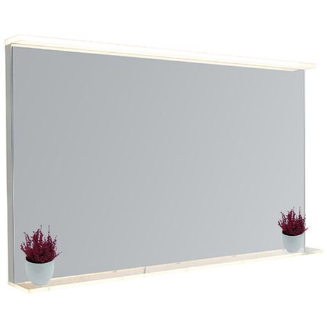 Bathroom mirror incl. LED with touch dimmer and shelf - Miral